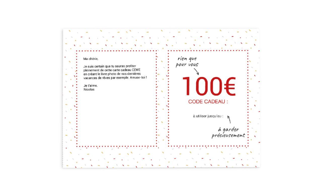 Carte de Voeux en Bois Cadeau carte cadeau carte cadeau pour toi