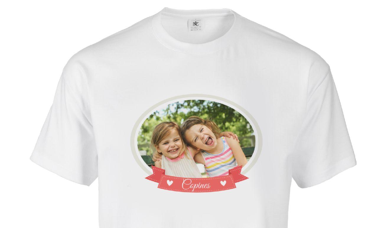 T-shirt personnalisé : t-shirt en coton avec